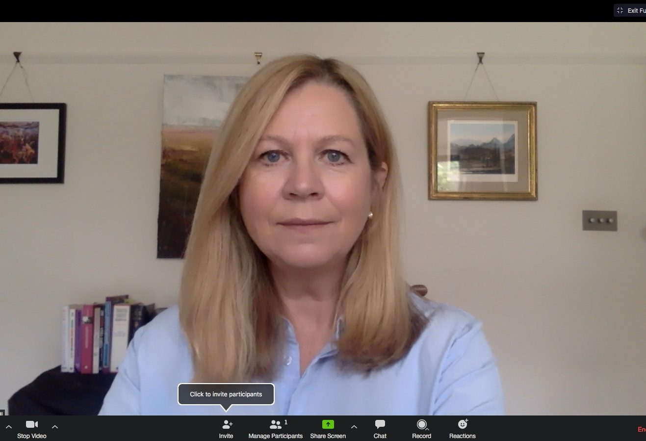 nicola hill remote working via webcam
