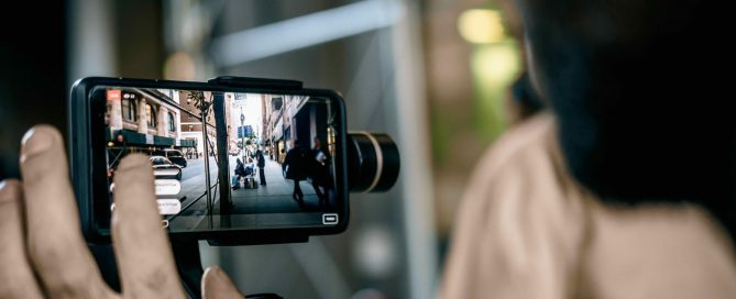 Smartphone camera filming a live video, showing it's capabilities